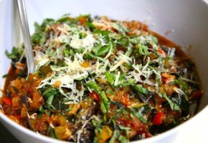 ratatouille with shaved parm