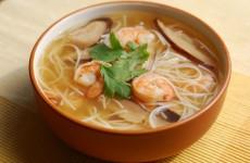shrimp soup with shitake